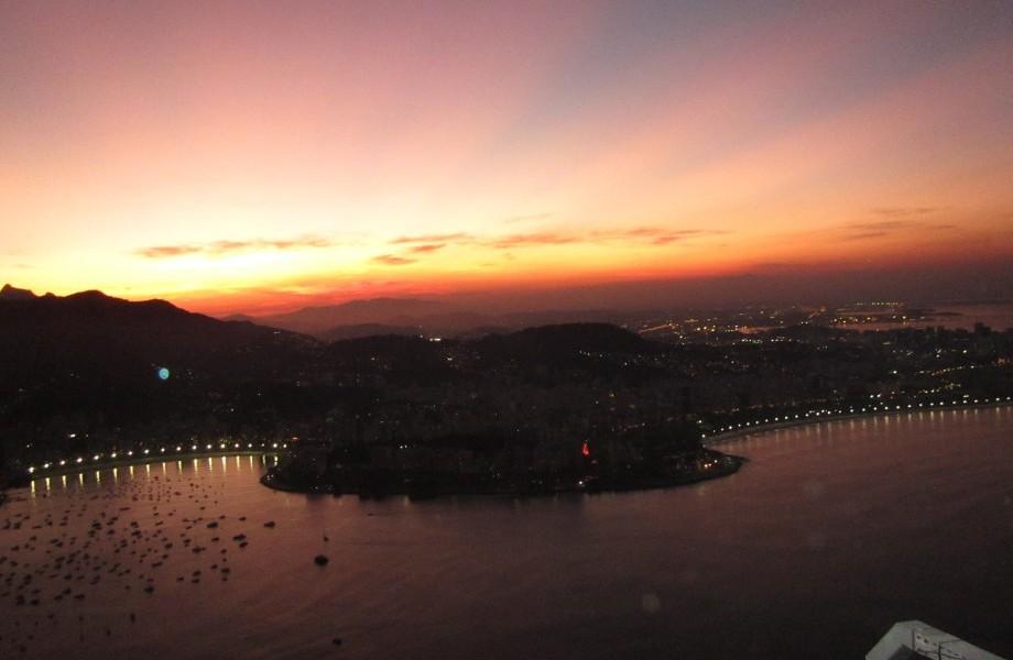 Rio de janerio sun set